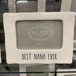 Rae Dunn Best Nana Ever Picture Frame